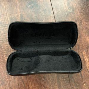 CHANEL Accessories - CHANEL Glossy Black Leather Sunglasses Case